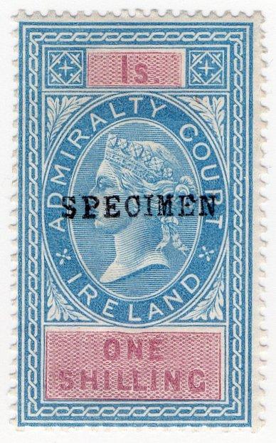 (I.B) QV Revenue : Admiralty Court Ireland 1/- (1881)