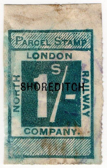 (I.B) North London Railway : Parcel 1/- (Shoreditch)