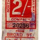 (I.B) North London Railway : Parcel 2/- (Broad Street)