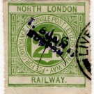 (I.B) North London Railway : Letter 2d (postal)