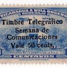 (I.B) Nicaragua Telegraphs : Postal Charity Overprint 50c