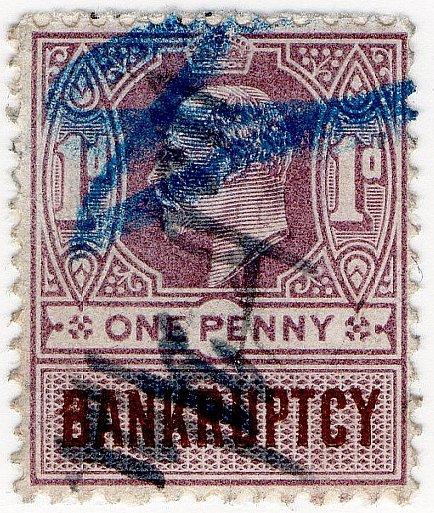 (I.B) Edward VII Revenue : Bankruptcy 1d