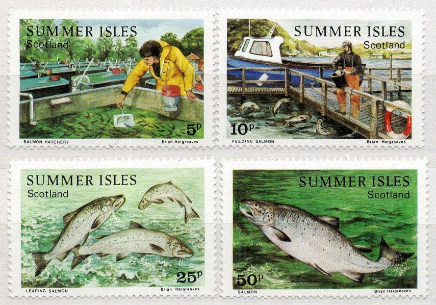 (I.B) Cinderella Collection : Summer Isles Local Post (Salmon Farming)