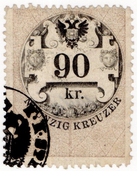 (I.B) Austria/Hungary Revenue : Stempelmarke 90kr