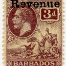 "(I.B) Barbados Revenue : Duty 3d (reversed ""e"" overprint)"