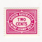 (I.B) Australia - South Australia Revenue : Swine Stamp Duty 2c