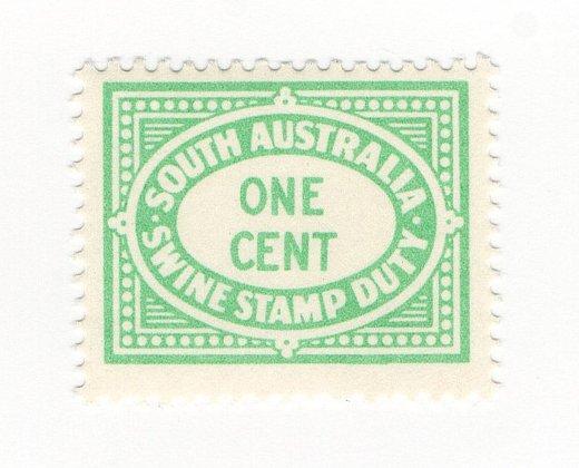 (I.B) Australia - South Australia Revenue : Swine Stamp Duty 1c