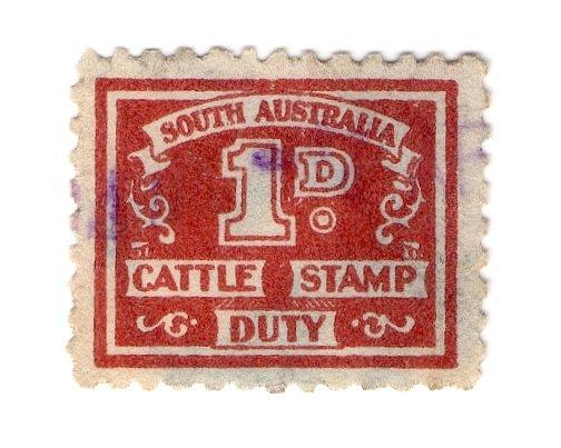 (I.B) Australia - South Australia Revenue : Cattle Duty 1d