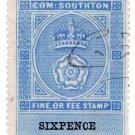 (I.B) Southampton Revenue : County Court Fees 6d