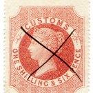 (I.B) QV Revenue : Customs Duty 1/6d