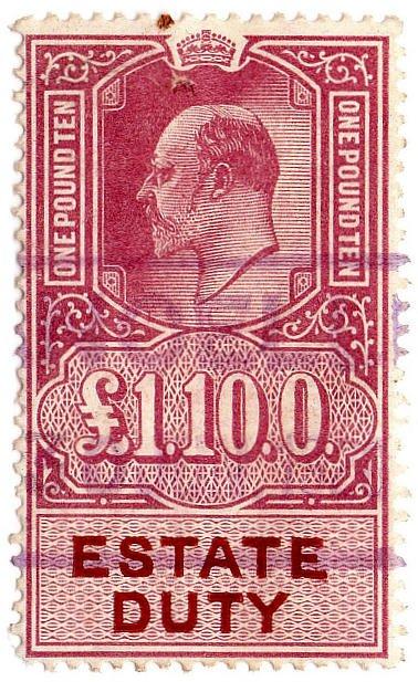 (I.B) Edward VII Revenue : Estate Duty £1 10/-