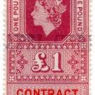 (I.B) Elizabeth II Revenue : Contract Note £1