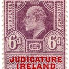 (I.B) Edward VII Revenue : Judicature Ireland 6d