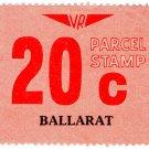 (I.B) Australia - Victoria Railways : Parcels 20c (Ballarat)