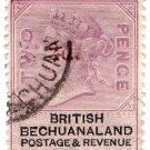 (I.B) British Bechuanaland Revenue : Duty 2d on 2d OP