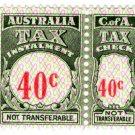 (I.B) Australia Revenue : Tax Instalment 40c