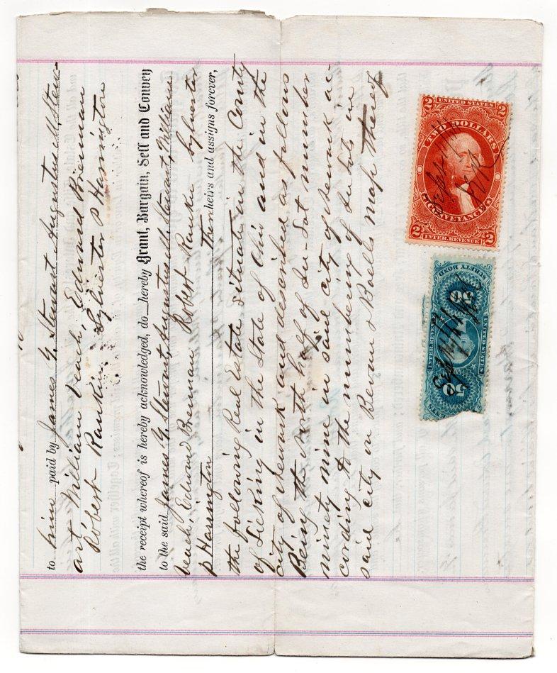 (I.B) US Revenue : Mortgage Deed (Ohio 1866) complete document