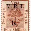 (I.B) Orange Free State Postal : VRI Overprint 1/-