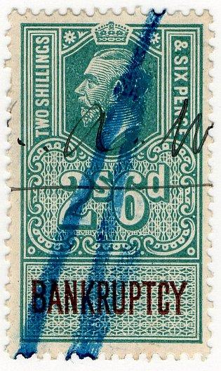 (I.B) George V Revenue : Bankruptcy 2/6d