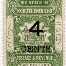 (I.B) British North Borneo Postal : State 4c on $2 OP