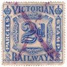 (I.B) Australia - Victoria Railways : Parcels 2d