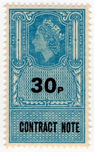 (I.B) Elizabeth II Revenue : Contract Note 30p