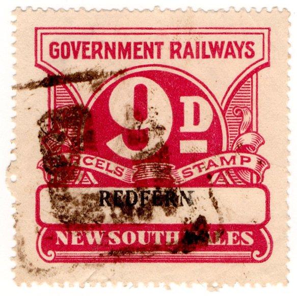 (I.B) Australia - NSW Railways Parcel 9d (Redfern)