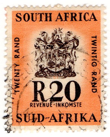 (I.B) South Africa Revenue : Duty Stamp R20