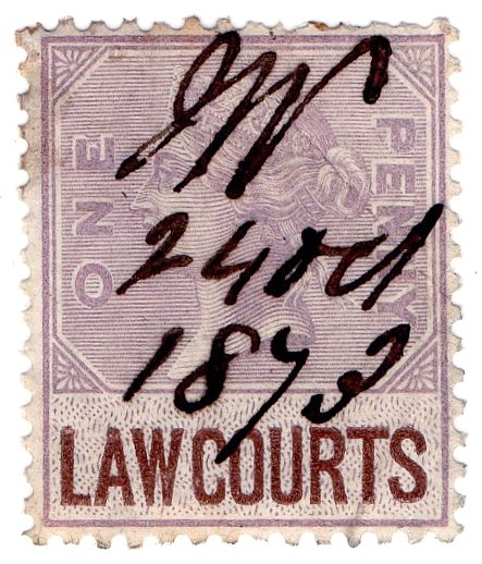 (I.B) QV Revenue : Law Courts (Scotland) 1d