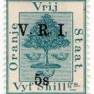 (I.B) Orange Free State Postal : VRI Overprint 5/-