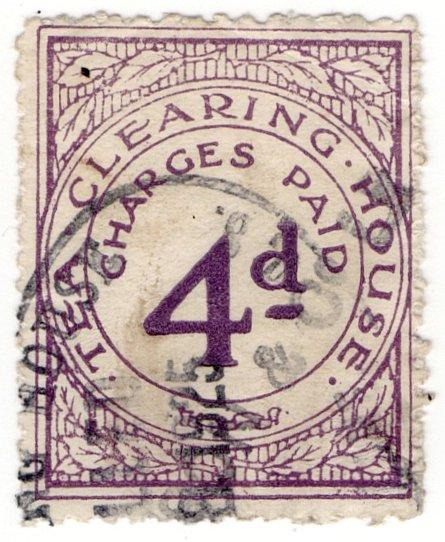 (I.B) George V Revenue : Tea Clearing House 4d