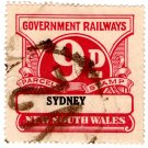 (I.B) Australia - NSW Railways Parcel 9d (Sydney)