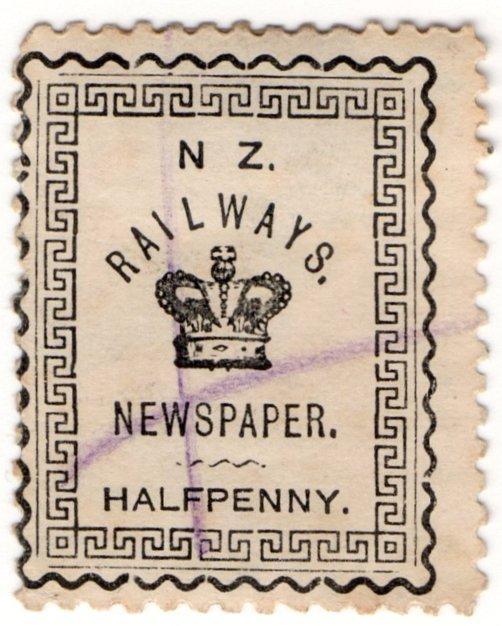 (I.B) New Zealand Railways : Newspaper Stamp ½d