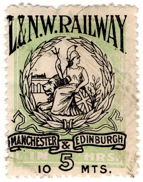 (I.B) London & North Western Railway : Parcel Stamp