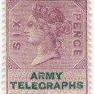 (I.B) QV Telegraphs : Army Telegraphs 6d