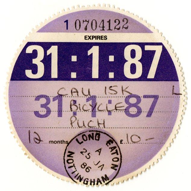 (I.B) GB Revenue : Car Tax Disc (Puch Motorcycle 1987)