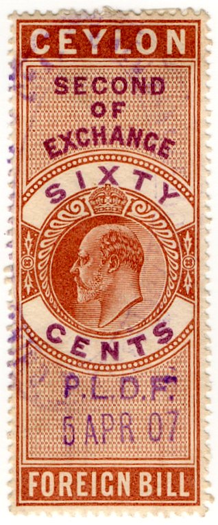 (I.B) Ceylon Revenue : Foreign Bill 60c
