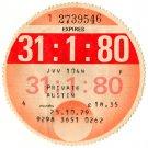 (I.B) GB Revenue : Car Tax Disc (Austin 1980)