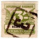 (I.B) Australia - NSW Railways Parcel 3/- (Redfern)
