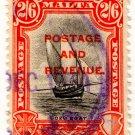 (I.B) Malta Revenue : Duty Stamp 2/6d