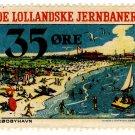 (I.B) Denmark Railway : De Lollandske Jernbaner 35 Øre