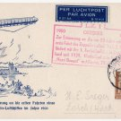 (I.B) Germany Postal : First Zeppelin Flight Card (50th Anniversary)