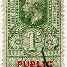 (I.B) George V Revenue : Public Records 1/-