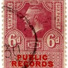 (I.B) George V Revenue : Public Records 6d