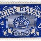 (I.B) Excise Revenue : 4½d Blue (1934)