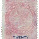 (I.B) New Zealand Revenue : Stamp Duty 20/- (1867)
