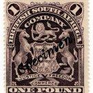 (I.B) Rhodesia/BSAC Revenue : Duty £1