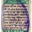 (I.B) Transvaal Revenue : Customs Frank Fee 6d