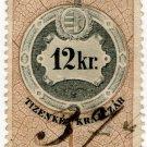 (I.B) Austria/Hungary Revenue : Stempelmarke 12 Kr