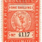 (I.B) Bonelli's Electric Telegraph Company 1/-